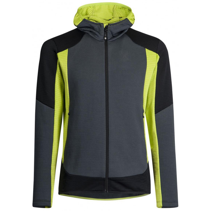 Polaire STRETCH COLOR HOODY JACKET 9347 gris-vert Montura