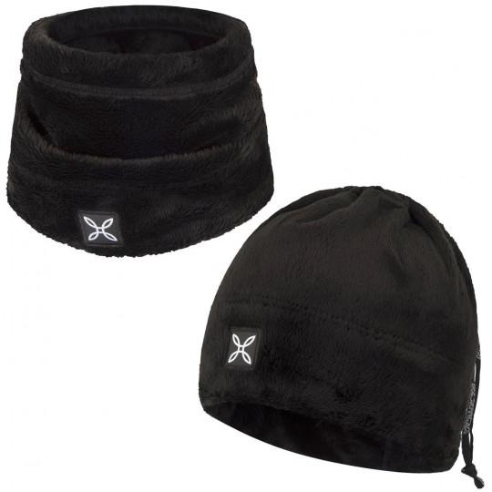 Bonnet tour de cou 2 en 1 COLLAR POLAR CAP noir Montura
