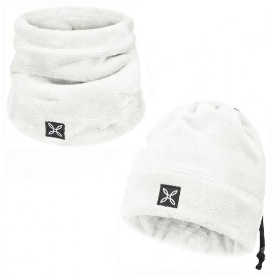 Bonnet tour de cou 2 en 1 COLLAR POLAR CAP blanc Montura