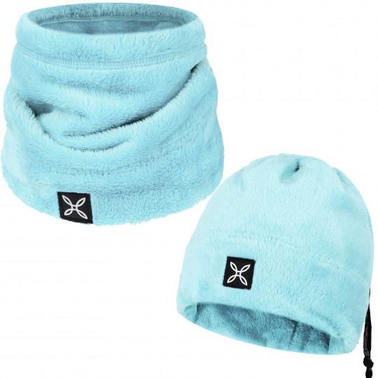 Bonnet tour de cou 2 en 1 COLLAR POLAR CAP ice-blue Montura