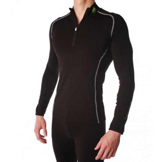 Tee-shirt fibre de bois 240 POINTE BLANCHE noir-blanc Natural Peak