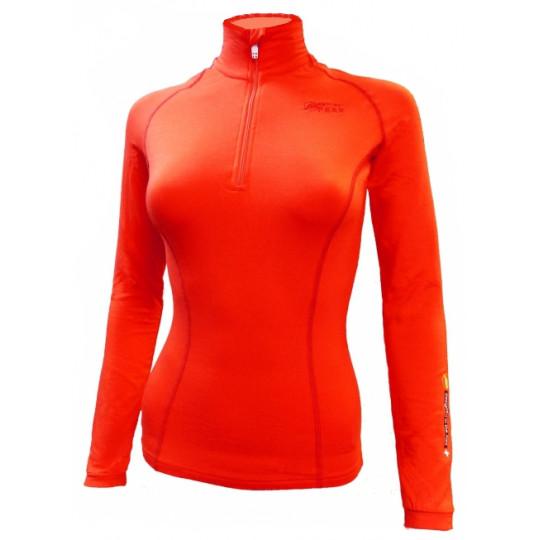 Tee-shirt fibre de bois femme 260 SUPERWARM orange Natural Peak