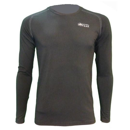 Tee-shirt fibre de bois 260 WALKER noir Natural Peak