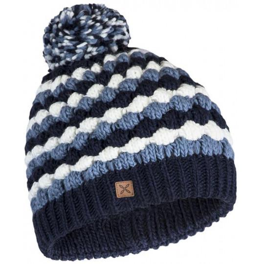 Bonnet à pompon femme BUBBLE CAP 8186 bleu-nuit Montura