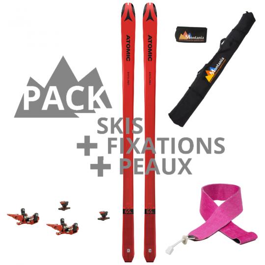Pack ski de rando course BACKLAND ULTIMATE UL 65 rouge 161 Atomic 2021