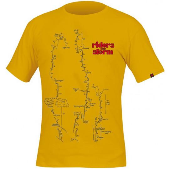 Tee-shirt FLASH-RIDERS ON THE STORM jaune DirectAlpine