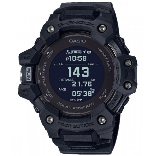 Montre altimètre GPS solaire CASIO G-SQUAD HR réf GBD-H1000-1ER noire G-SHOCK