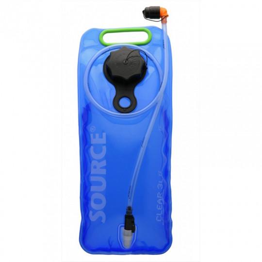 Poche à eau hydratation CLEAR 3L bleu-vert Source