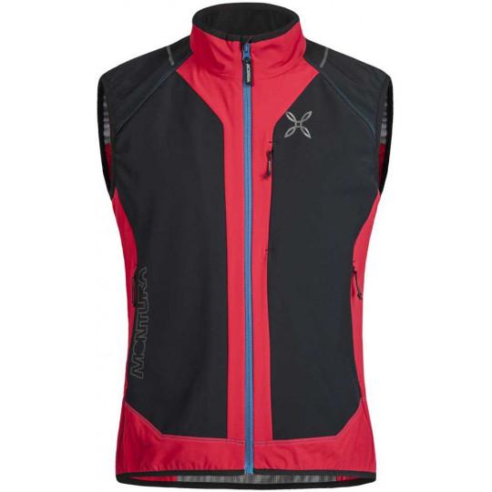 Gilet Softshell sans manches X-MIRA VEST rouge-noir Montura