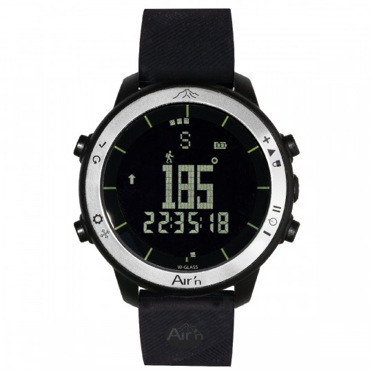 Montre altimètre THEIA BLACK MOON negatif bracelet silicone Air'N Outdoor