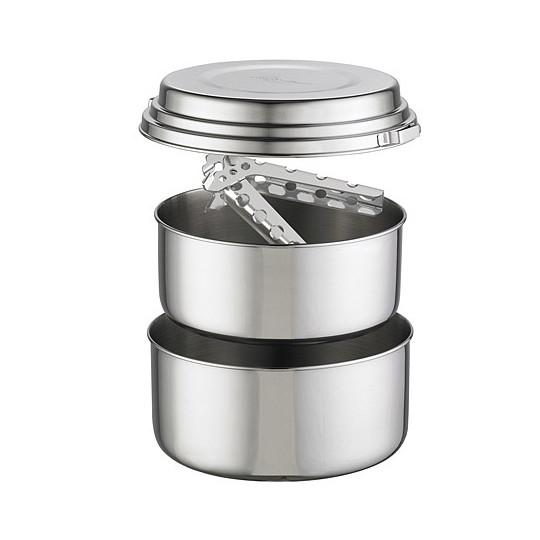 Lot de 2 casseroles acier inoxydable ALPINE 2 POT Set de MSR GEAR