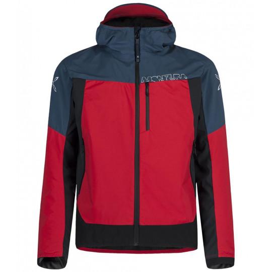 Veste Softshell à capuche AIR ACTION HYBRID JACKET 8610 ash blue-red Montura