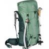 Sac à dos trekking femme Aircontact Lite 60+10 SL aloe-forest Deuter