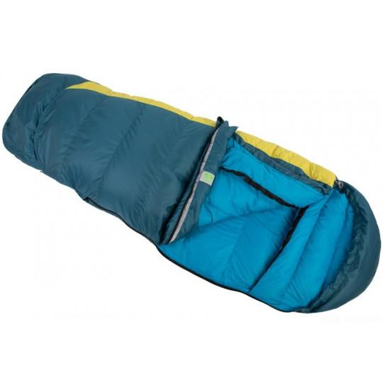 Sac de couchage enfant plume KIKI DOWN 125-145cm bicolore bleu-citron SirJoseph