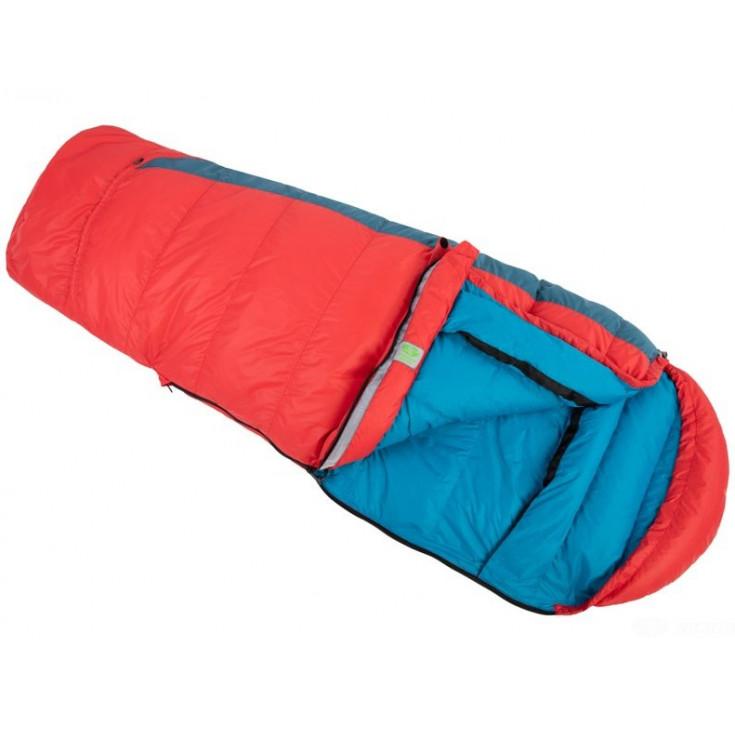 Sac de couchage enfant plume KIKI DOWN 125-145cm bicolore rouge-bleu SirJoseph