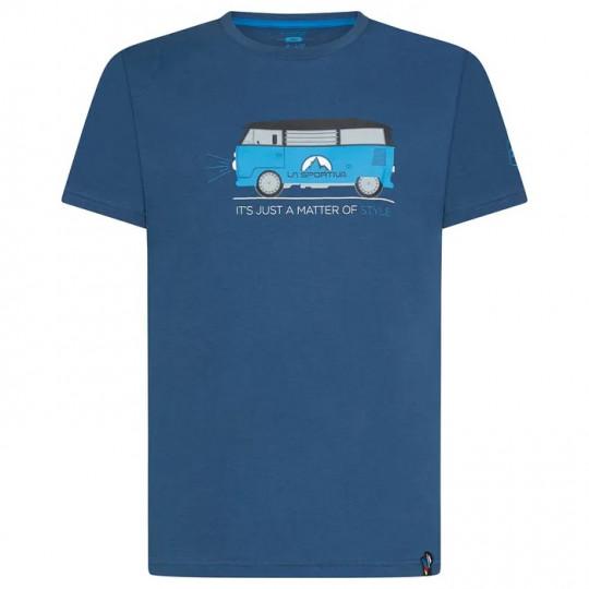Tee-shirt coton bio VAN T-SHIRT bleu opal La Sportiva