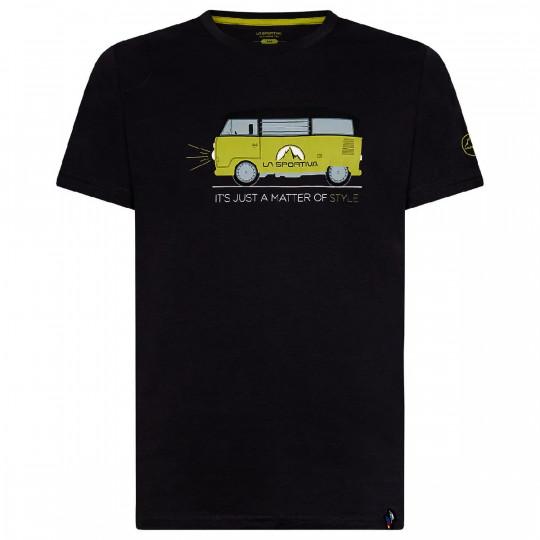 Tee-shirt coton bio VAN T-SHIRT noir-jaune La Sportiva