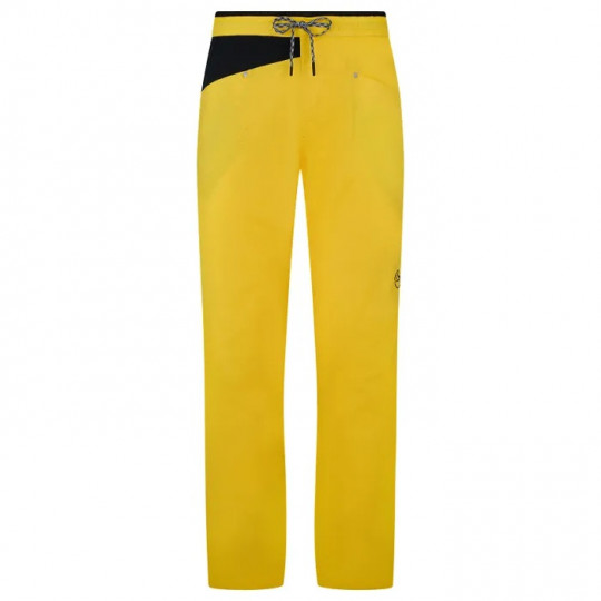 Pantalon homme coton bio BOLT PANT yellow-black La Sportiva