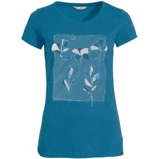 Tee-shirt respirant femme SKOMER PRINT kingfischer-uni Vaude