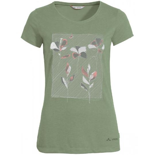 Tee-shirt respirant femme SKOMER PRINT cedar-wood Vaude