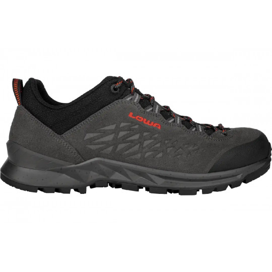 Chaussure basse cuir EXPLORER LOW anthracite-flame Lowa