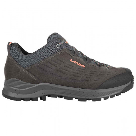 Chaussure femme basse cuir EXPLORER LOW WS anthracite-coral Lowa
