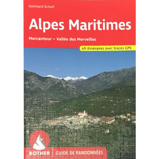 Livre Guide de Randonnée ALPES MARITIMES-Reinhard Scholl- Editions Rother 2021