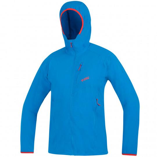 Veste Softshell légère à capuche DRU LIGHT bleu-ocean Directalpine