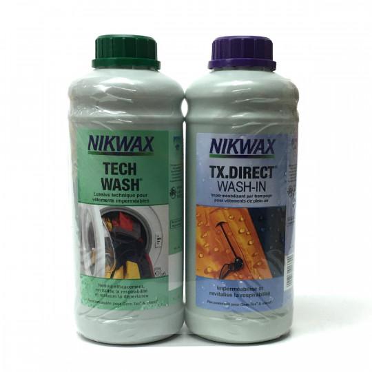 Lot LESSIVE ET IMPERMEABILISANT Gore-Tex Twin Loft et Wash-in 1L Nikwax