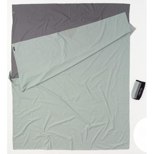 Drap de sac DOUBLE TRAVEL 100% coton +3°C grey COCOON