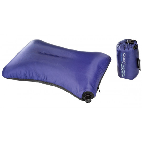 Coussin gonflable ultra-léger AIR-CORE PILLOW MICROLIGHT 20 x 32cm violet COCOON