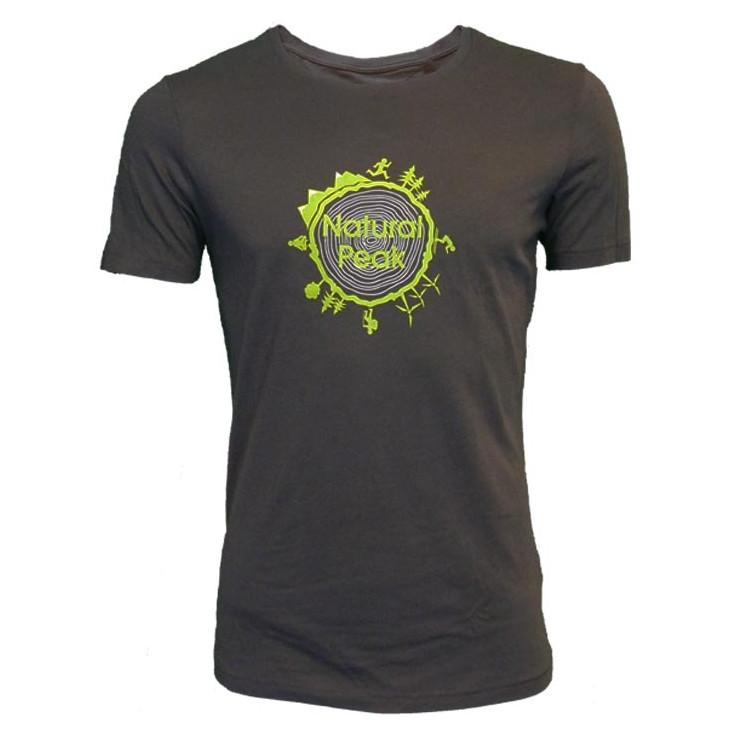 Tee-shirt fibre de bois 140 AROUND THE WORLD gris-vert Natural Peak