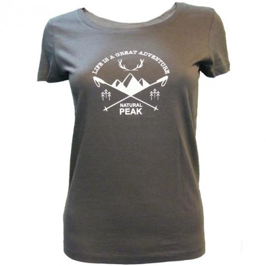 Tee-shirt fibre de bois femme 140 GREAT ADVENTURE gris Natural Peak