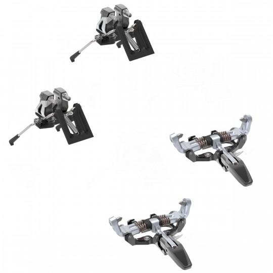 Fixation ski de rando avec freins-skis LOW TECH RACE 105 MANU+ silver Dynafit 2022