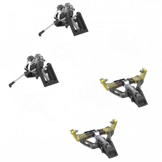 Fixation ski de rando avec freins-skis LOW TECH RACE 115 MANU+ yellow Dynafit 2022