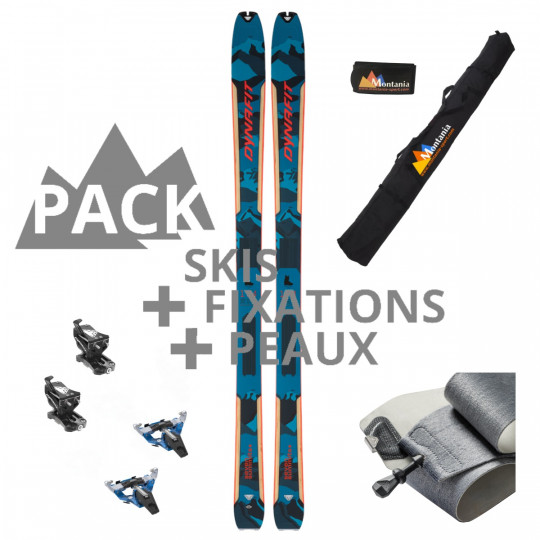 Pack ski de rando unisexe SEVEN SUMMITS 85 bleu-rouge Dynafit 2022