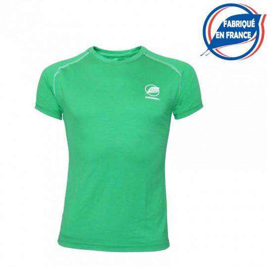 Tee-shirt fibre de bois homme 190 ECRINS vert FRANCE Natural Peak
