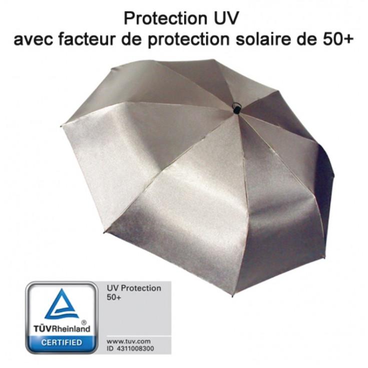 Parapluie de randonnée main libre SWING gris-argenté anti-UV EuroSCHIRM