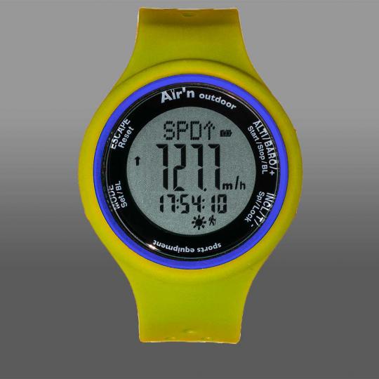 Montre altimètre GRANITA LCD positif yellow-sun Air'N Outdoor 2021