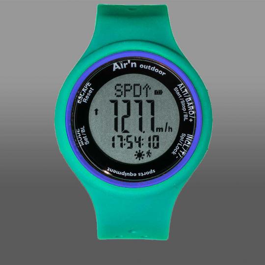 Montre altimètre GRANITA LCD positif water-green Air'N Outdoor 2021