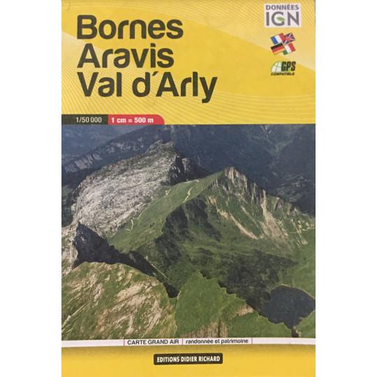Carte de poche IGN 1/50000 - Bornes Aravis Val d'Arly - Editions Didier Richard