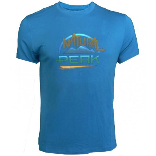 Tee-shirt fibre de bois homme 190 LE MOLE bleu Natural Peak