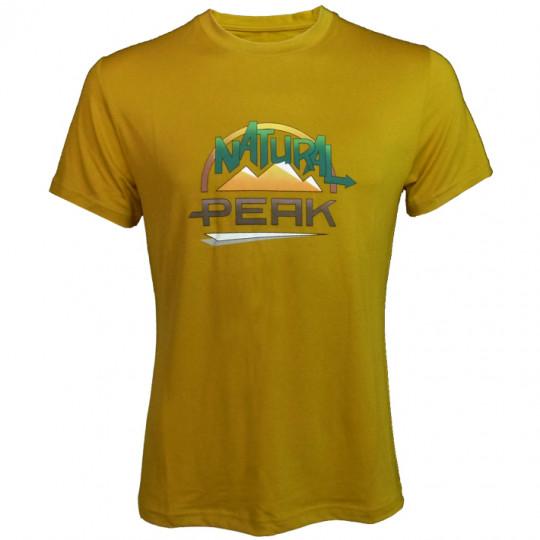 Tee-shirt fibre de bois homme 190 LE MOLE ocre Natural Peak