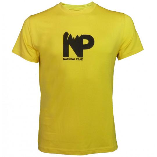Tee-shirt fibre de bois homme 190 NP jaune Natural Peak
