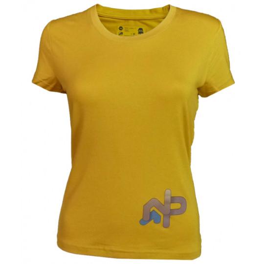 Tee-shirt fibre de bois femme 190 LE MOLE F ocre Natural Peak