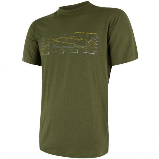 Tee-shirt laine Mérinos PT TRACK vert SENSOR