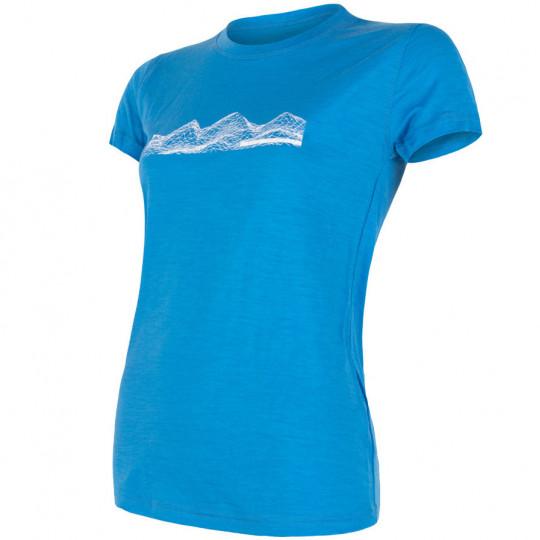 Tee-shirt laine Mérinos femme W'S PT MOUNTAINS bleu SENSOR