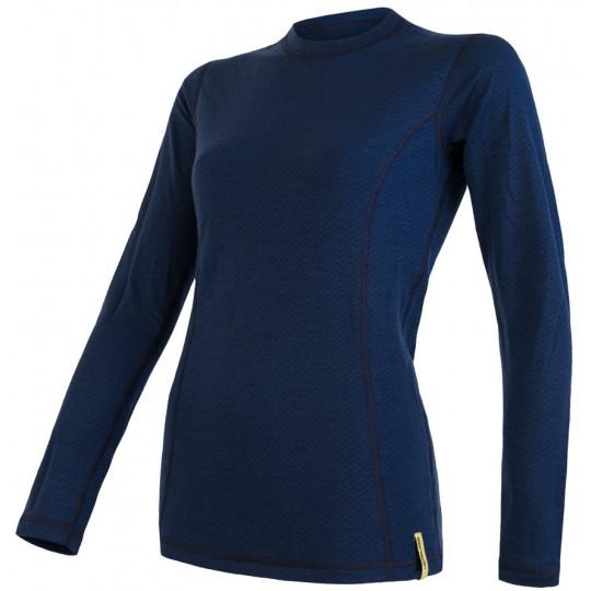 Tee-shirt femme laine Mérinos W'S DOUBLE FACE LS deep-blue SENSOR