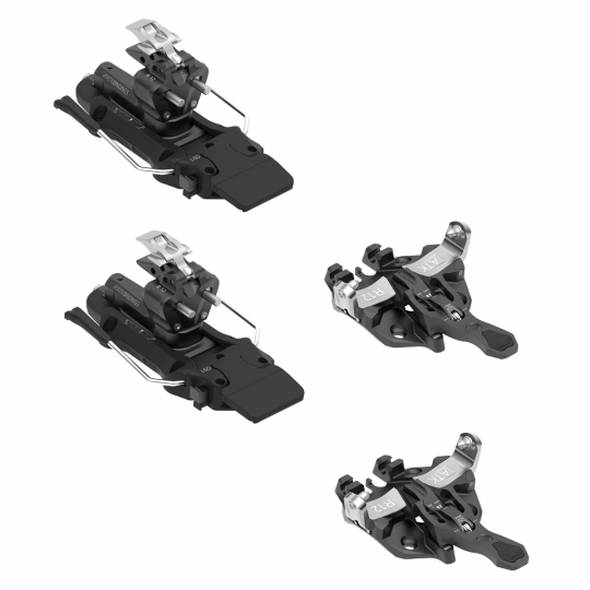 Fixation ski de rando avec freins-skis FREERAIDER 12 black ATK Bindings Full Set