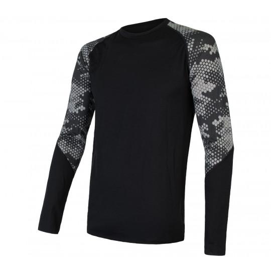 Tee-shirt homme laine Mérinos MERINO IMPRESS LS honeycomb SENSOR